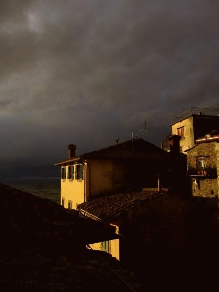 rain skyline